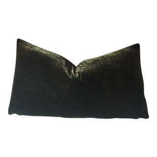 Moss Green Silk Velvet Pillow