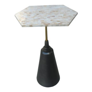Mother-Of-Pearl & Metal Side Table