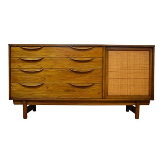 Ash and Cane Credenza