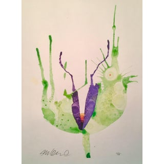 Contemporary Rainbow Botanical Watercolor Painting