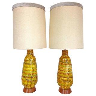 F.A.I.P. Mid-Century Monumental Ceramic Drip Glaze Lava Lamps - A Pair