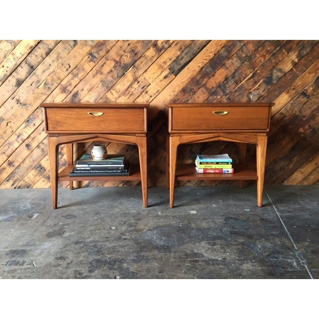 Image of Mid-Century Refinished Kent Nightstands - Pair