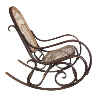 1940's Thonet Style Rocking Chair
