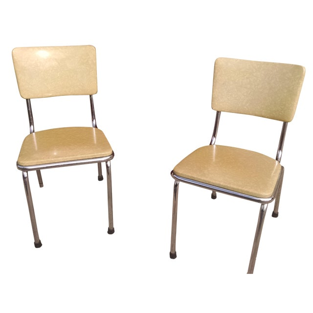 Howell Vintage Chrome Chairs - A Pair - Image 1 of 6