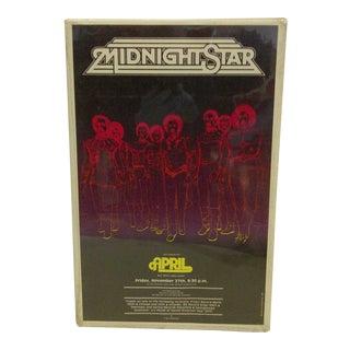 "1981 Vintage ""Midnight Star"" Concert Poster"