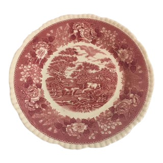 Vintage English Traditional Red Plate