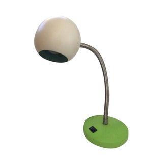 Mid-Century Green & White Eyeball Desk Lamp