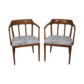 Tomlinson Mid-Century Modern Walnut Armchairs - A Pair