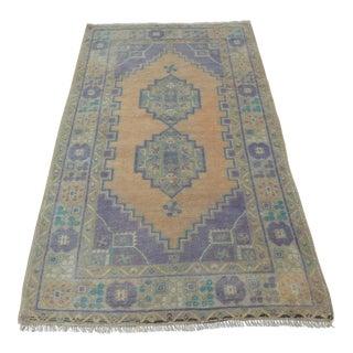 Antique Turkish Oushak Carpet - 3′8″ × 6′3″