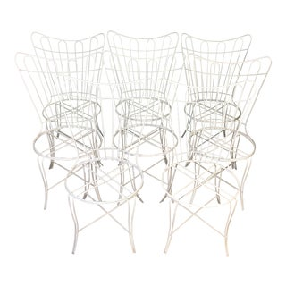 Salterini Wrought Iron Patio Chairs - Set of 8