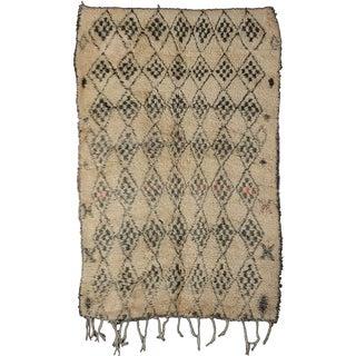 Rare Grey/Ivory Beni Ouarain Carpet