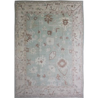 "Aara Rugs Hand Knotted Oushak Rug - 13'7""x 9'7"""