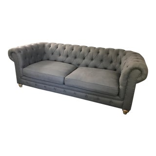 Contemporary Charcoal Tufted Couch