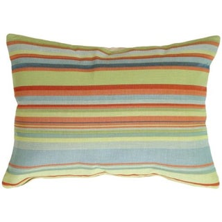 Pillow Decor - Tropical Stripes Rectangle Pillow