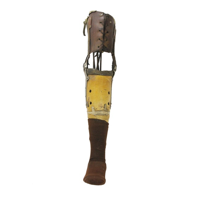 Vintage Medical Prosthetic Right Leg - Image 5 of 5
