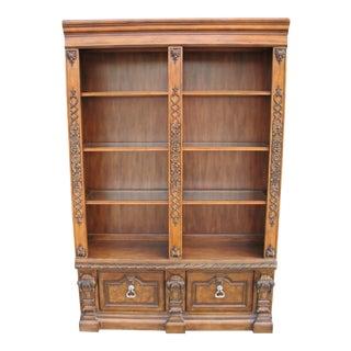 Walnut Finish Office Bookcase