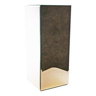 Mid Century Modern Mirrored Pedestal Stand