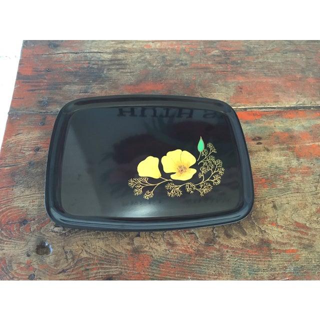 Image of Couroc of Monterey Black & Yellow Poppy Tray