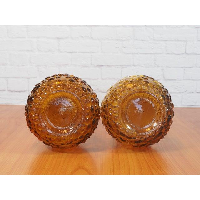 Italian Empoli Bubble Glass Genie Decanters - Pair - Image 9 of 9