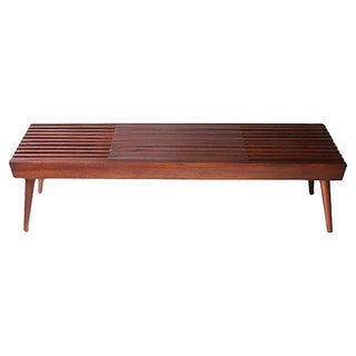 Walnut Expanding Slat Coffee Table/Bench