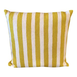 Lindell & Co Striped Mustard & Cream Pillow