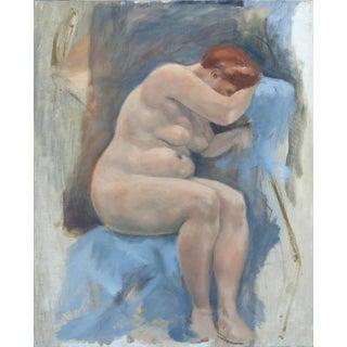 Midcentury Nude Study Oil Painting