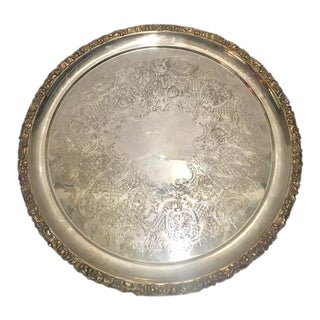 Round Silverplated Tray