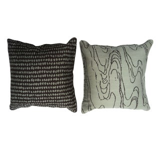Outdoor Pillows in Graphic Fabric - Set of 4