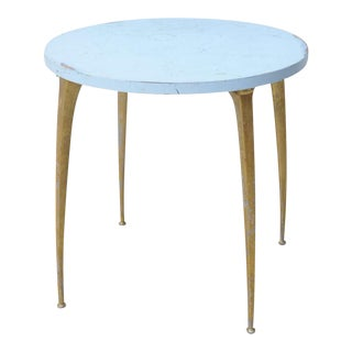 Italian Modern Enameled and Brass Centre or Breakfast Table, Manner of Ponti