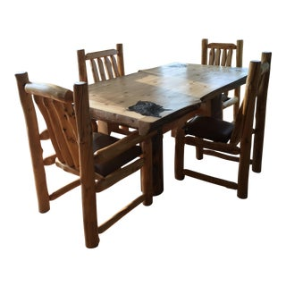 Custom Log Table & Chairs
