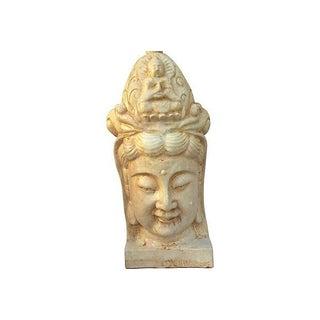 Chinese Ceramic Ivory Buddha Head