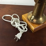 Image of Vintage Nautical Brass Propeller Table Lamp