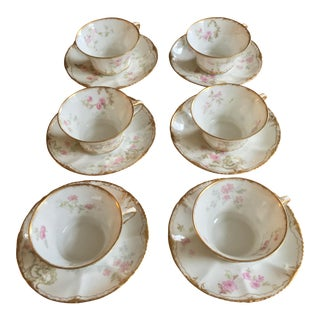 Theodore Haviland Limoges France Tea Cups - Set of 6