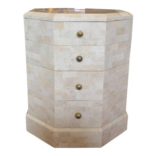 Maitland-Smith Tessellated Stone Octagon Shaped Side Table
