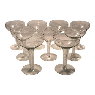 Traditional Hollow Stem Champagne Glasses - Set of 9