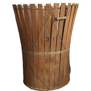 Vintage Hop Harvesting Basket