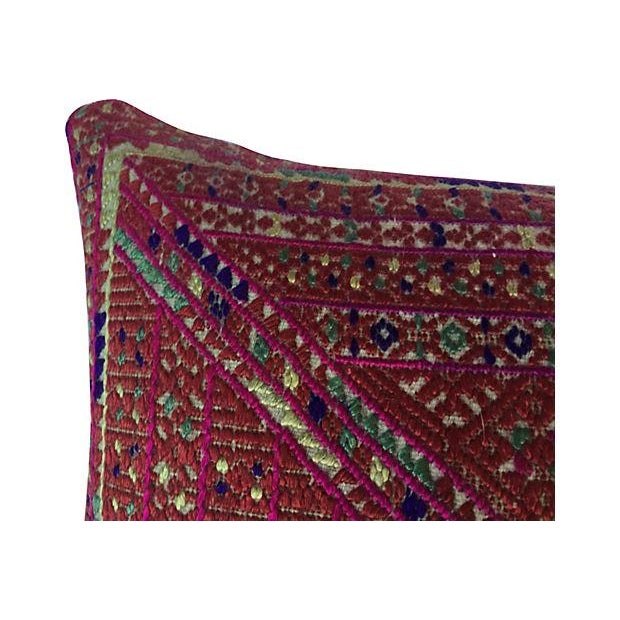 Asian Ceremonial Quilt Pillow - Image 2 of 4