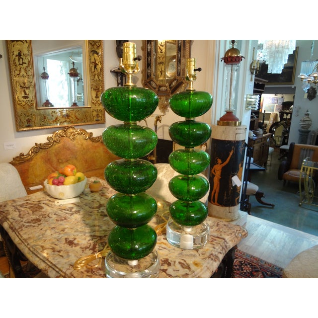 Murano Mid-Century Glass Table Lamps - A Pair - Image 6 of 6