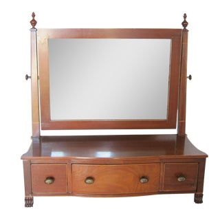 English Shaving Mirror with Drawers