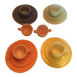 Vintage Childs Pastel Tea Service - Set of 14