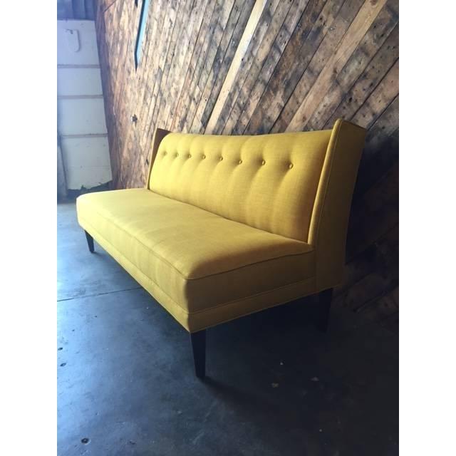 Mid Century Style Sofa: Mid-Century Style Custom Mustard Sofa