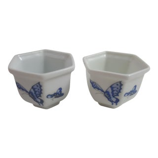 Butterfly Egg Cups - A Pair