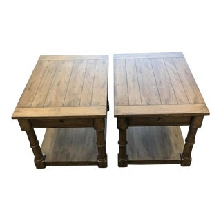 Ethan Allen Turret End Tables - A Pair