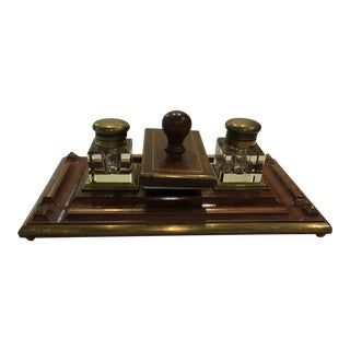 Brass Trimmed Desk Set
