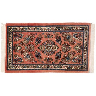 Vintage Persian Sarouk Rug - 2'3 x 3'9