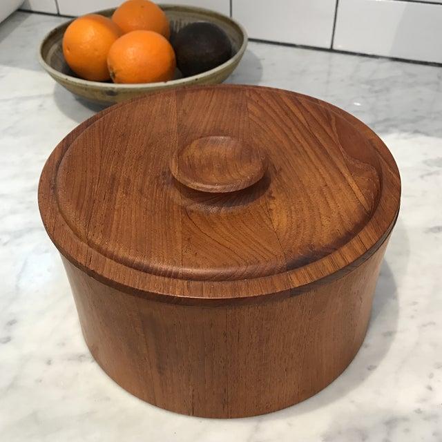 Image of Vintage Dansk Danish Modern Teak Ice Bucket
