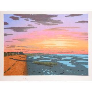 Bill Sullivan - Low Tide 3 Hand Colored Lithograph