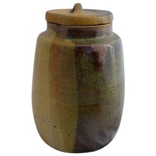 Organic Mid Century Modern Pottery Cookie Jar