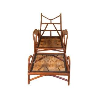Classic Ritts Rattan Chair & Ottoman