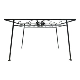 Mid-Century Iron Daisy Outdoor Patio Dining Table